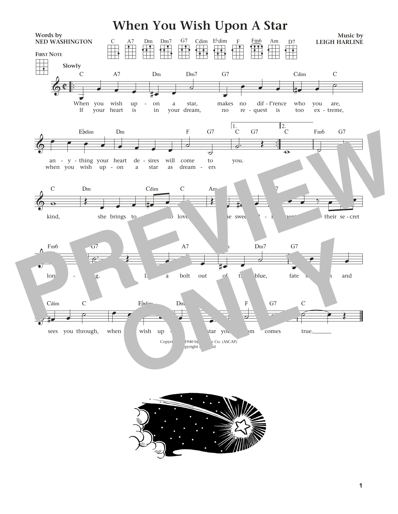 Jim Beloff When You Wish Upon A Star (from The Daily Ukulele) (arr. Liz and Jim Beloff) sheet music notes and chords. Download Printable PDF.