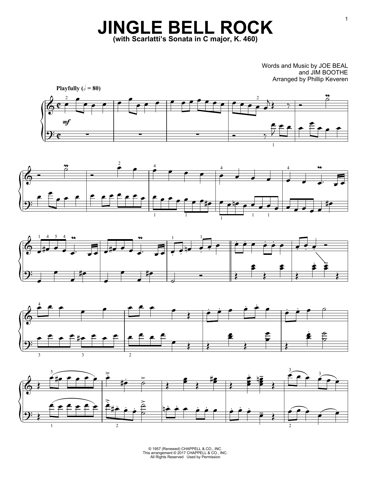 Jim Boothe Jingle Bell Rock [Classical version] (arr. Phillip Keveren) sheet music notes and chords. Download Printable PDF.