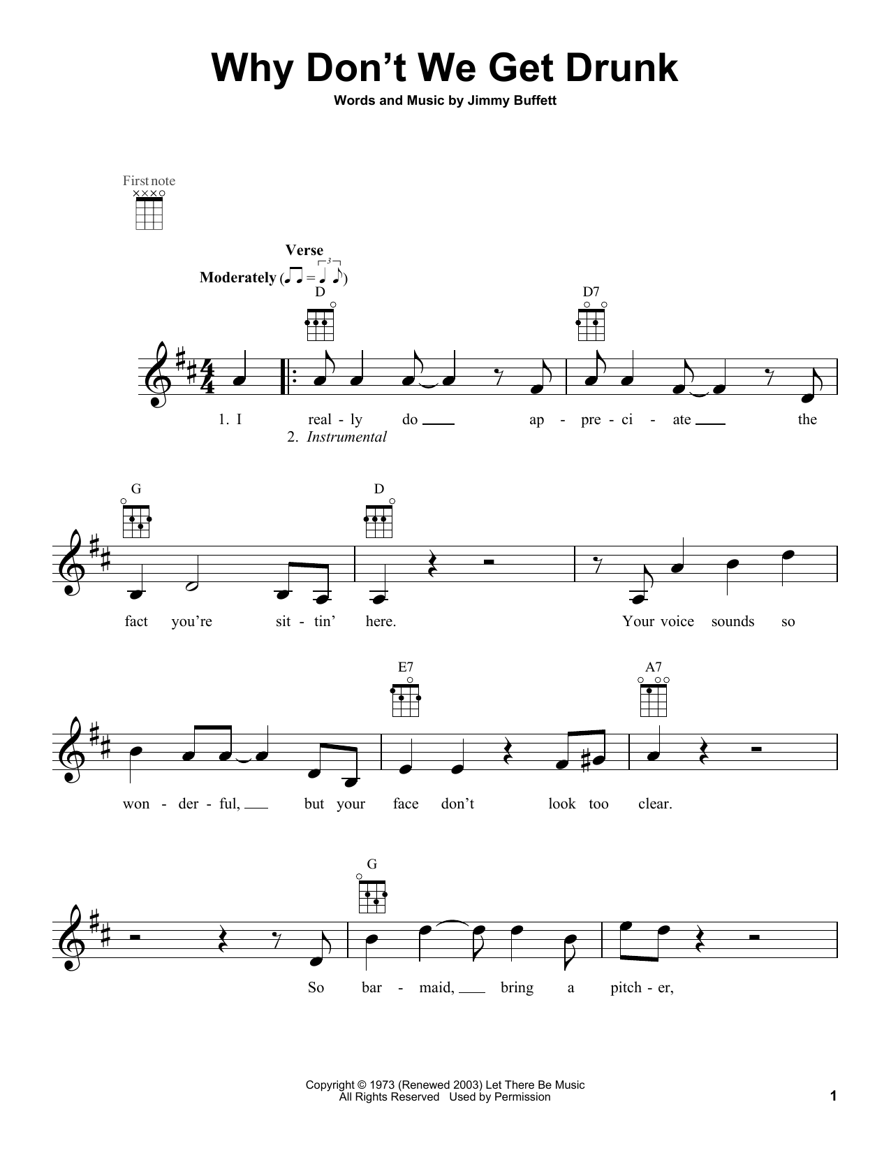 Jimmy Buffett Why Don't We Get Drunk sheet music notes and chords. Download Printable PDF.