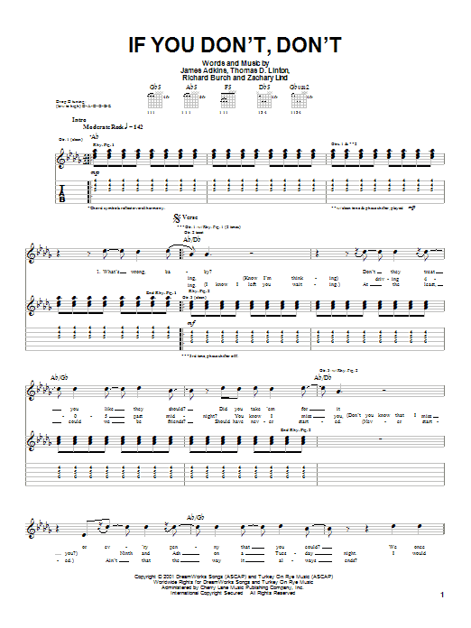 Jimmy Eat World If You Don't, Don't sheet music notes and chords. Download Printable PDF.