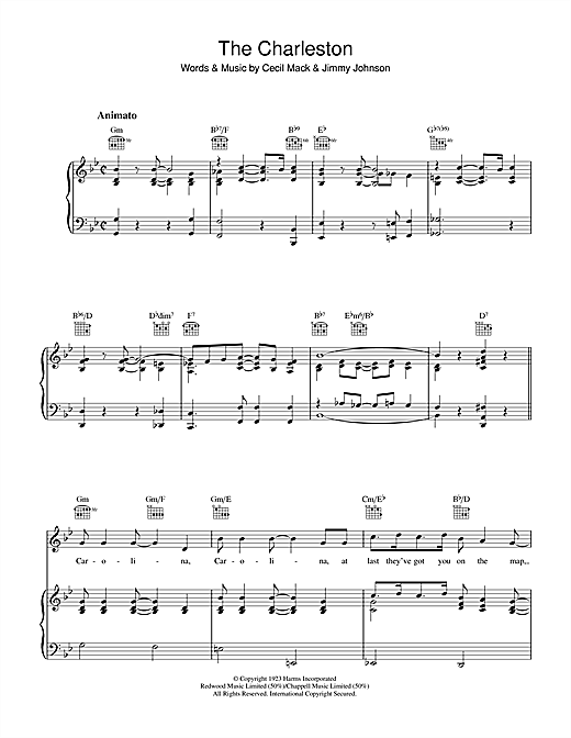 Jimmy Johnson The Charleston sheet music notes and chords. Download Printable PDF.