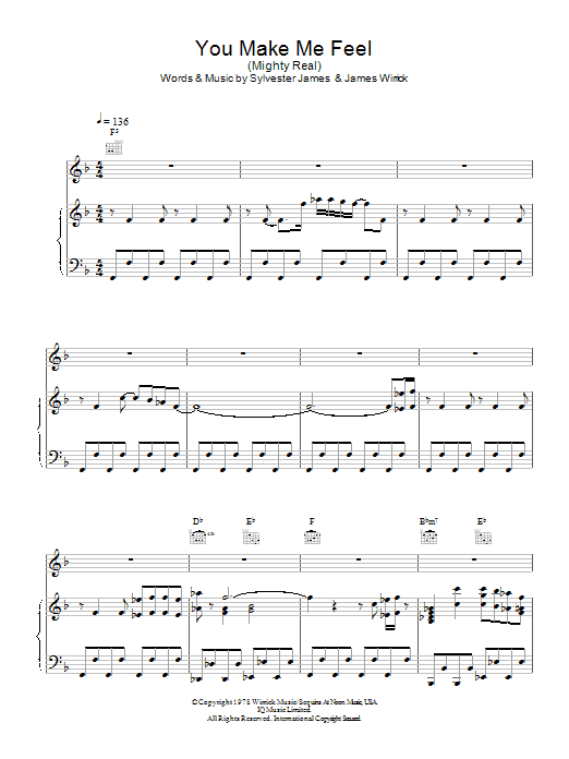 Jimmy Somerville You Make Me Feel (Mighty Real) sheet music notes and chords. Download Printable PDF.