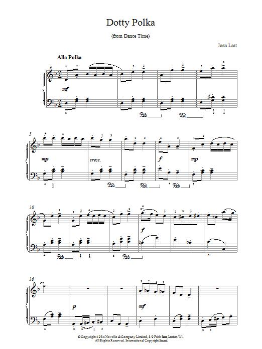 Last Dotty Polka sheet music notes and chords. Download Printable PDF.