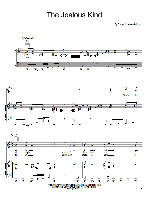 Joe Cocker The Jealous Kind sheet music notes and chords. Download Printable PDF.