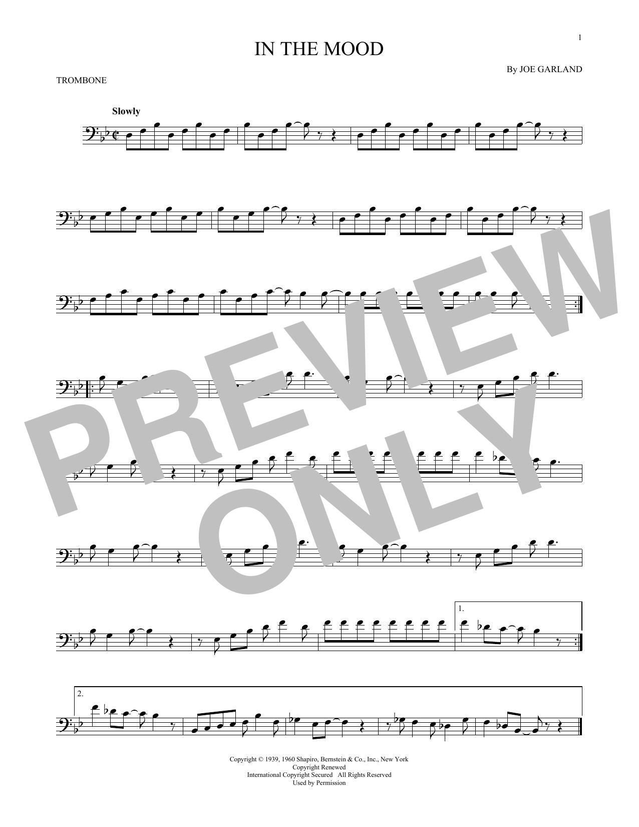 Joe Garland In The Mood sheet music notes and chords. Download Printable PDF.