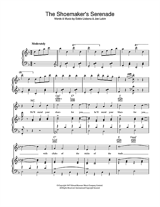 Joe Lubin The Shoemaker's Serenade sheet music notes and chords. Download Printable PDF.