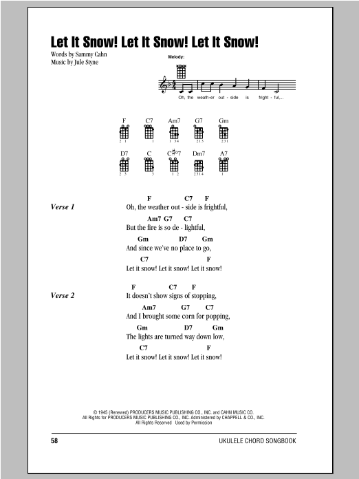 Joe Nichols Let It Snow! Let It Snow! Let It Snow! sheet music notes and chords