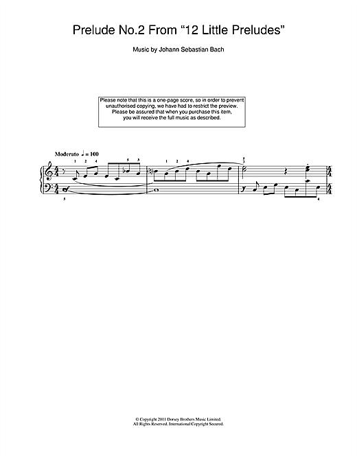 Johann Sebastian Bach Prelude No.2 From