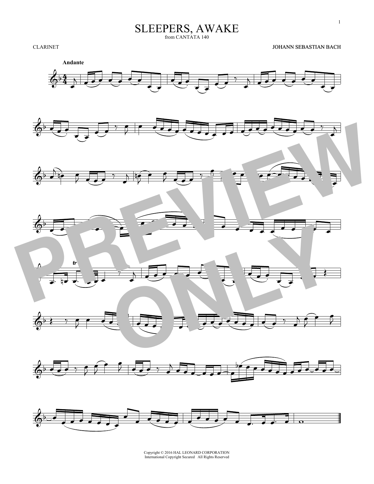 Johann Sebastian Bach Sleepers, Awake (Wachet Auf) sheet music notes and chords. Download Printable PDF.