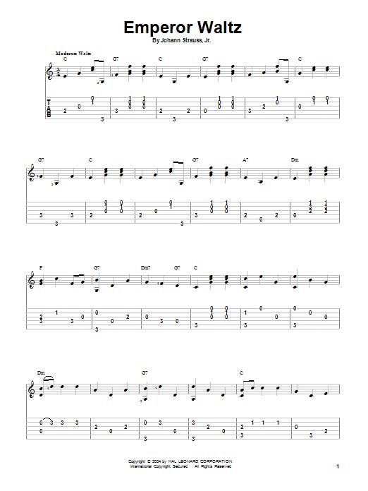 Johann Strauss, Jr. Emperor Waltz sheet music notes and chords. Download Printable PDF.