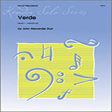 Download or print John Alexander Durr Verde Sheet Music Printable PDF 3-page score for Concert / arranged Percussion Solo SKU: 125047.