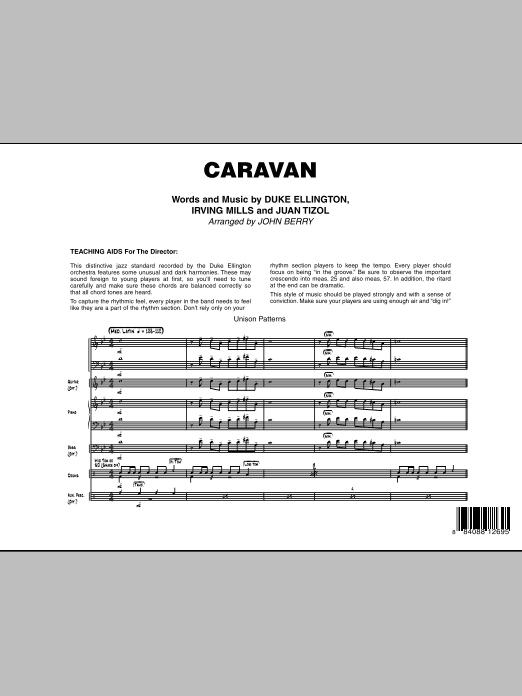 John Berry Caravan - Full Score sheet music notes and chords. Download Printable PDF.