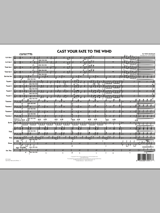 John Berry Cast Your Fate to the Wind - Full Score sheet music notes and chords