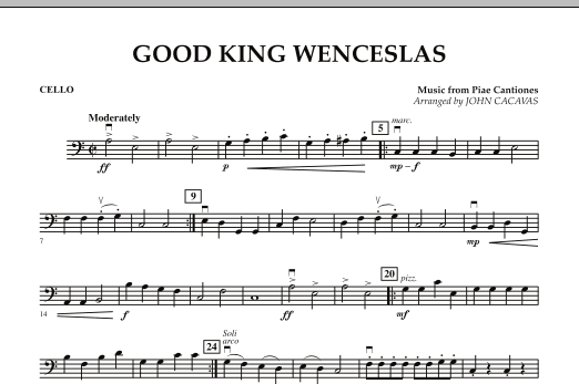 John Cacavas Good King Wenceslas - Cello sheet music notes and chords. Download Printable PDF.