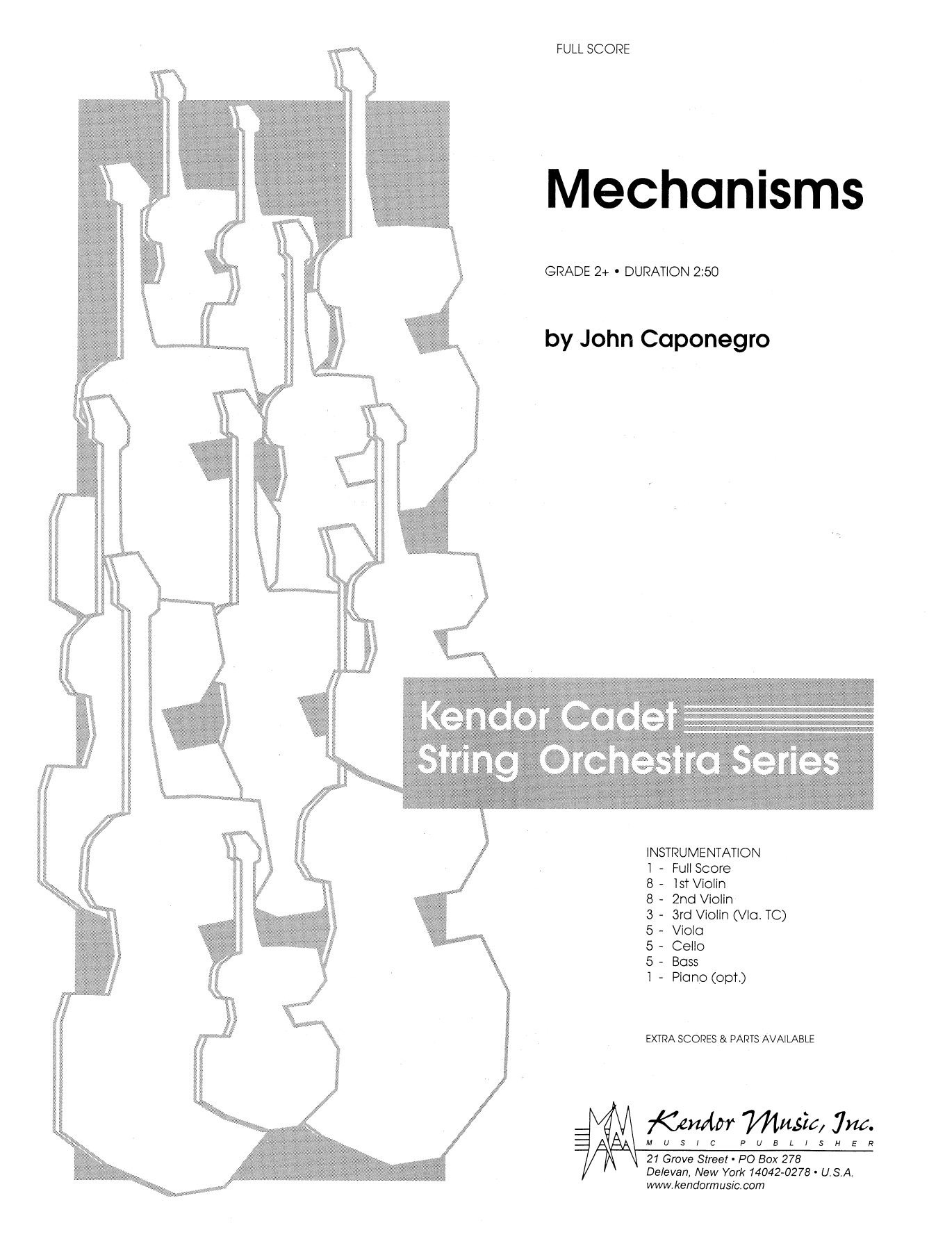 John Caponegro Mechanisms - Full Score sheet music notes and chords. Download Printable PDF.