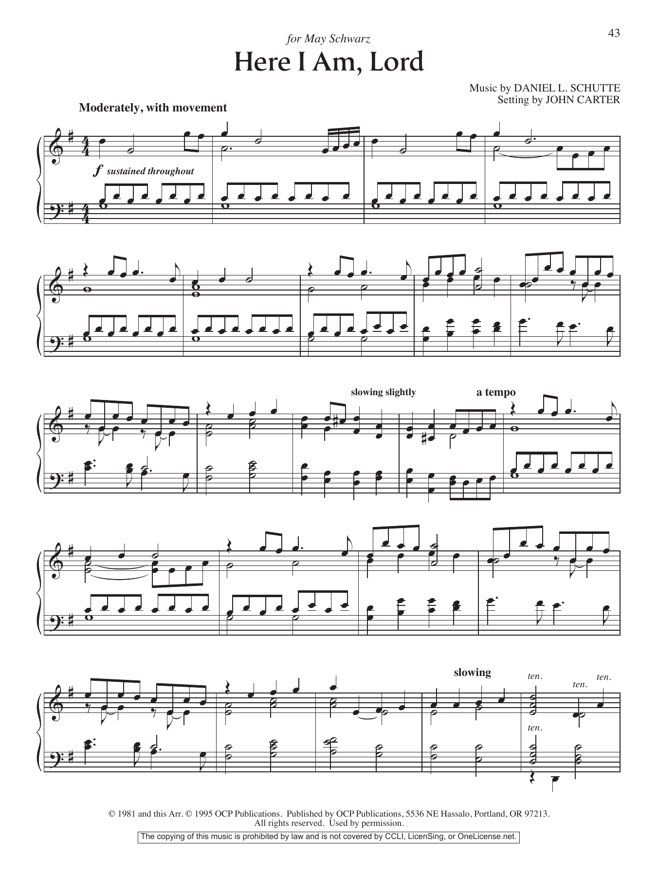 John Carter Here I Am, Lord sheet music notes and chords. Download Printable PDF.