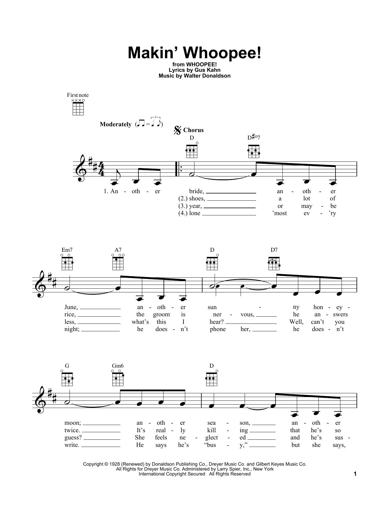 John Hicks Makin' Whoopee! sheet music notes and chords. Download Printable PDF.