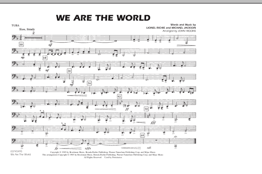 John Higgins 'We Are The World - Tuba' Sheet Music Notes, Chords | Download  Printable Marching Band - SKU: 287059