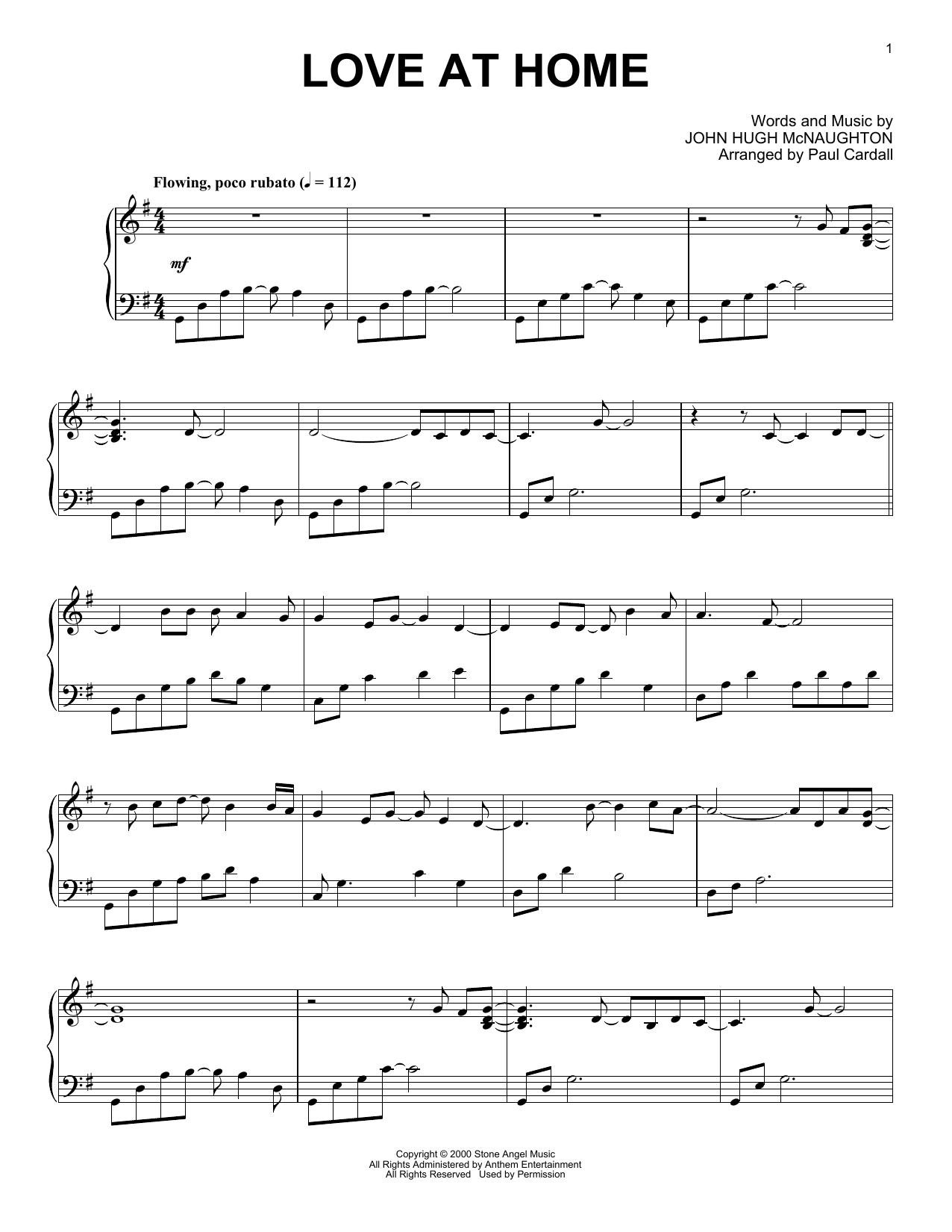 John Hugh McNaughton Love At Home (arr. Paul Cardall) sheet music notes and chords. Download Printable PDF.