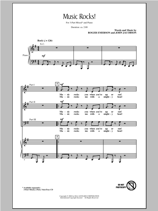 John Jacobson Music Rocks! sheet music notes and chords