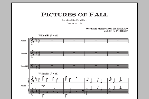 John Jacobson Pictures Of Fall sheet music notes and chords. Download Printable PDF.