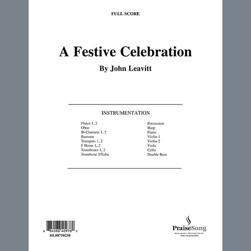 Easily Download John Leavitt Printable PDF piano music notes, guitar tabs for Choir Instrumental Pak. Transpose or transcribe this score in no time - Learn how to play song progression.
