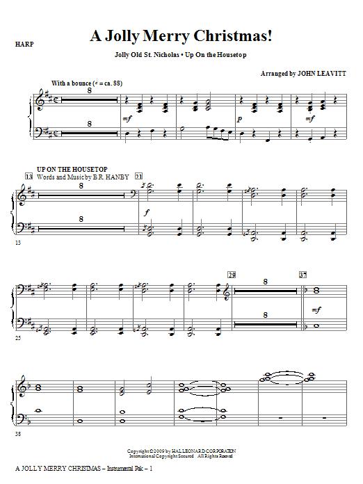 John Leavitt A Jolly Merry Christmas - Violin 1 sheet music notes and chords. Download Printable PDF.