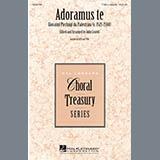Download or print John Leavitt Adoramus Te Sheet Music Printable PDF 3-page score for Latin / arranged TTBB Choir SKU: 289796.