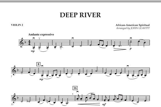 John Leavitt Deep River - Violin 2 sheet music notes and chords. Download Printable PDF.