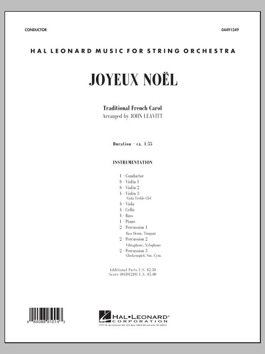 John Leavitt Joyeux Noel - Conductor Score (Full Score) sheet music notes and chords. Download Printable PDF.
