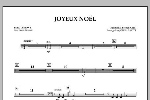 John Leavitt Joyeux Noel - Percussion 1 sheet music notes and chords. Download Printable PDF.