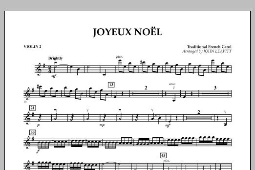 John Leavitt Joyeux Noel - Violin 2 sheet music notes and chords. Download Printable PDF.