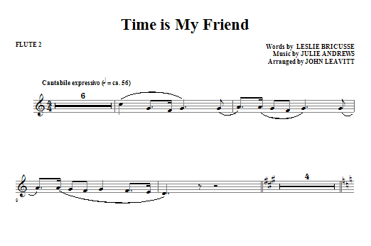 John Leavitt Time Is My Friend - Flute 2 sheet music notes and chords. Download Printable PDF.