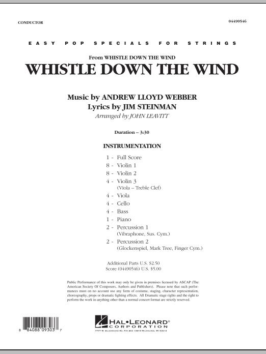 John Leavitt Whistle Down The Wind - Full Score sheet music notes and chords. Download Printable PDF.
