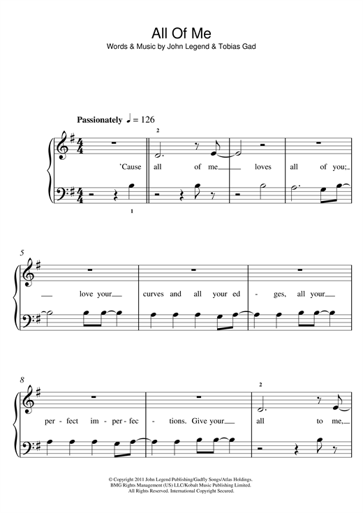 By Photo Congress || Piano Chords For The Song All Of Me By John Legend