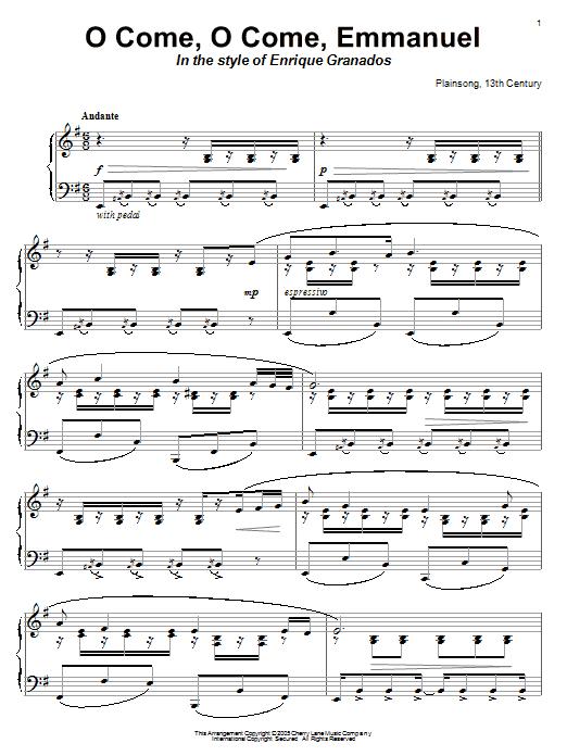 Christmas Carol O Come, O Come, Emmanuel sheet music notes and chords. Download Printable PDF.