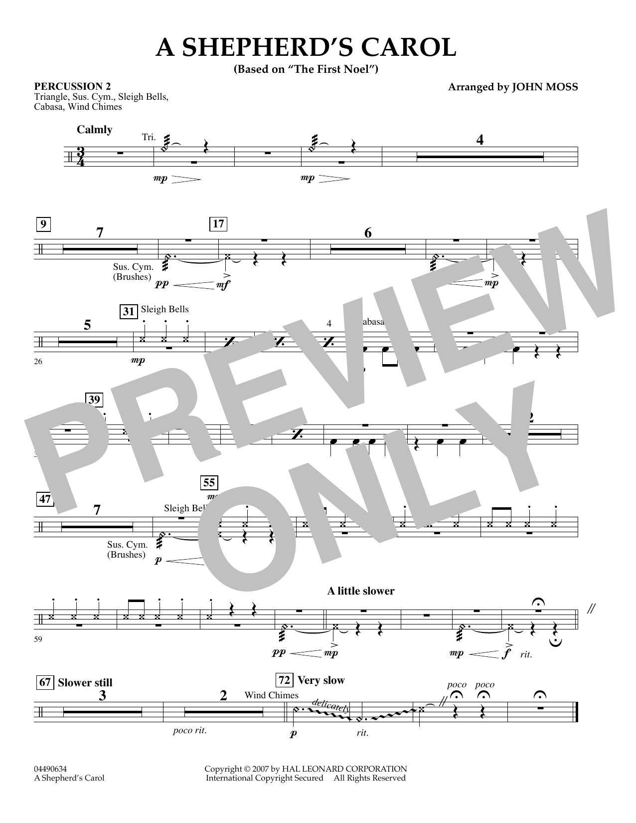 John Moss A Shepherd's Carol - Piano sheet music notes and chords. Download Printable PDF.