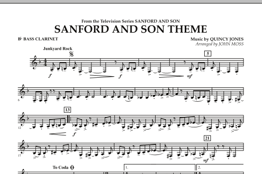 John Moss Sanford And Son Theme - Bb Bass Clarinet sheet music notes and chords. Download Printable PDF.