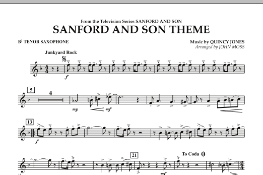 John Moss Sanford And Son Theme - Bb Tenor Saxophone sheet music notes and chords. Download Printable PDF.