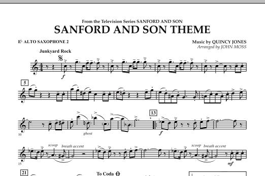 John Moss Sanford And Son Theme - Eb Alto Saxophone 2 sheet music notes and chords. Download Printable PDF.