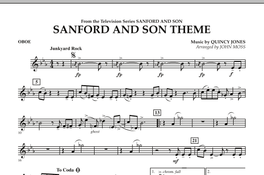 John Moss Sanford And Son Theme - Oboe sheet music notes and chords. Download Printable PDF.