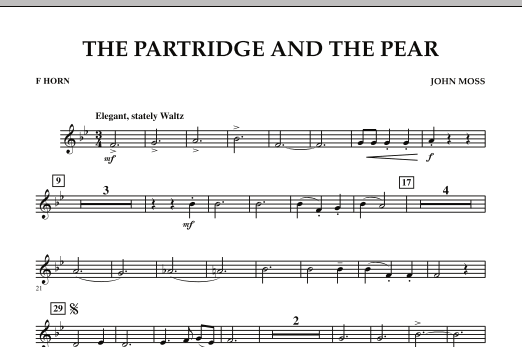 John Moss The Partridge And The Pear - F Horn sheet music notes and chords