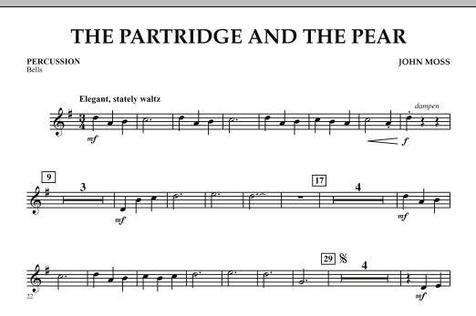 John Moss The Partridge and the Pear - Percussion sheet music notes and chords. Download Printable PDF.
