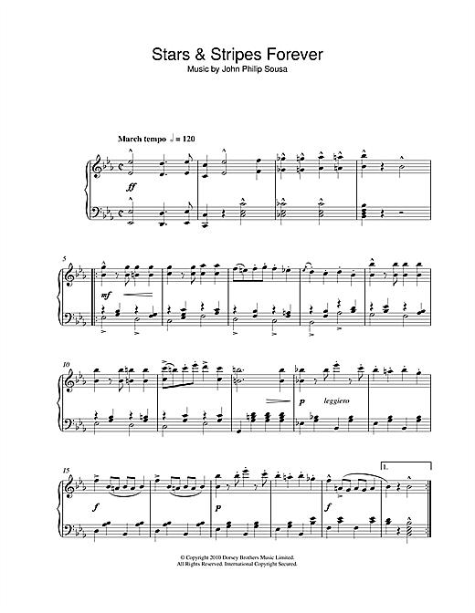 John Philip Sousa Stars & Stripes Forever sheet music notes and chords