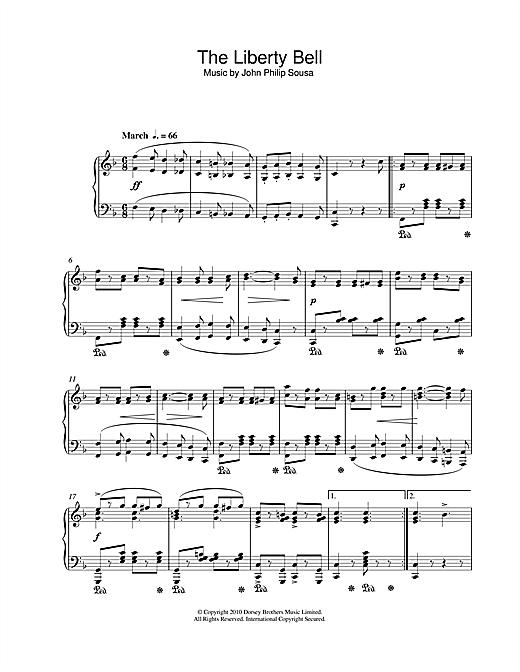 John Philip Sousa The Liberty Bell sheet music notes and chords