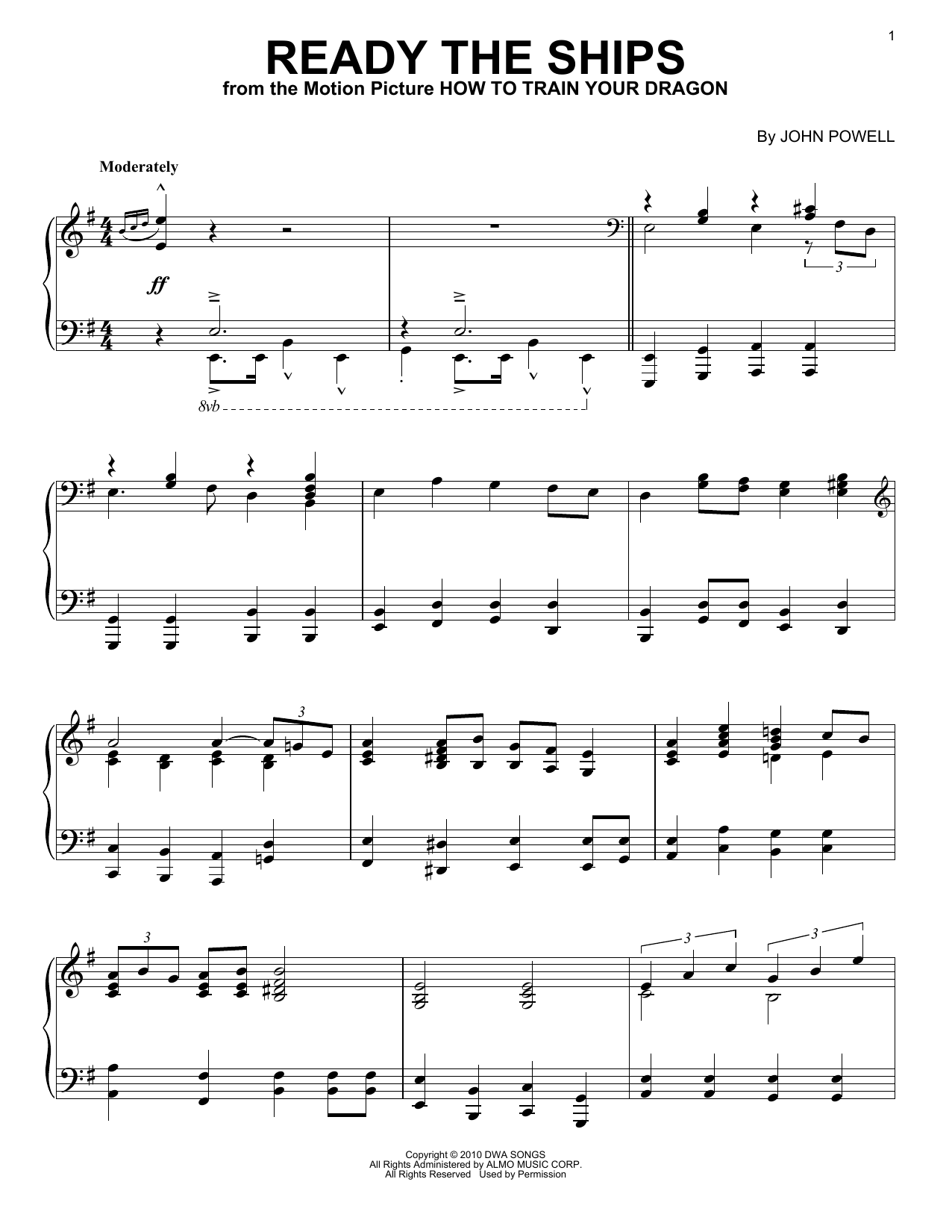 John Powell Ready The Ships sheet music notes and chords. Download Printable PDF.