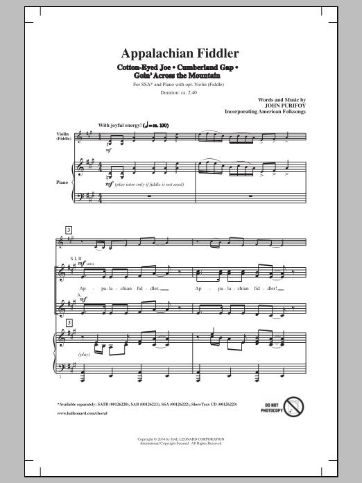 John Purifoy Cumberland Gap sheet music notes and chords. Download Printable PDF.