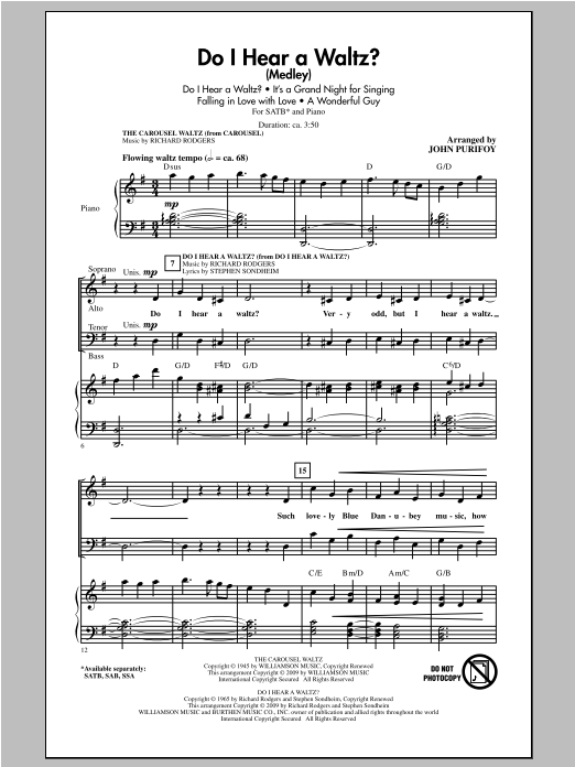 John Purifoy Do I Hear A Waltz? sheet music notes and chords. Download Printable PDF.