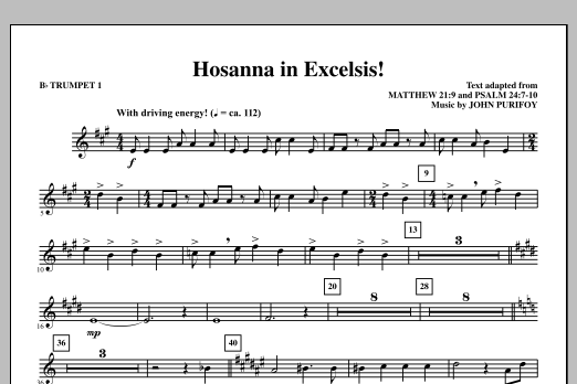John Purifoy Hosanna in Excelsis! - Bb Trumpet 1 sheet music notes and chords. Download Printable PDF.
