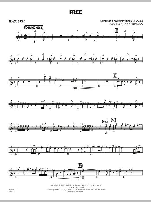 John Wasson Free - Tenor Sax 2 sheet music notes and chords